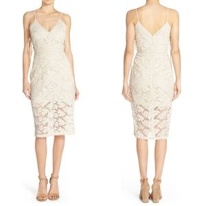 Adelyn Rae Tie Sides Lace Cocktail Dress